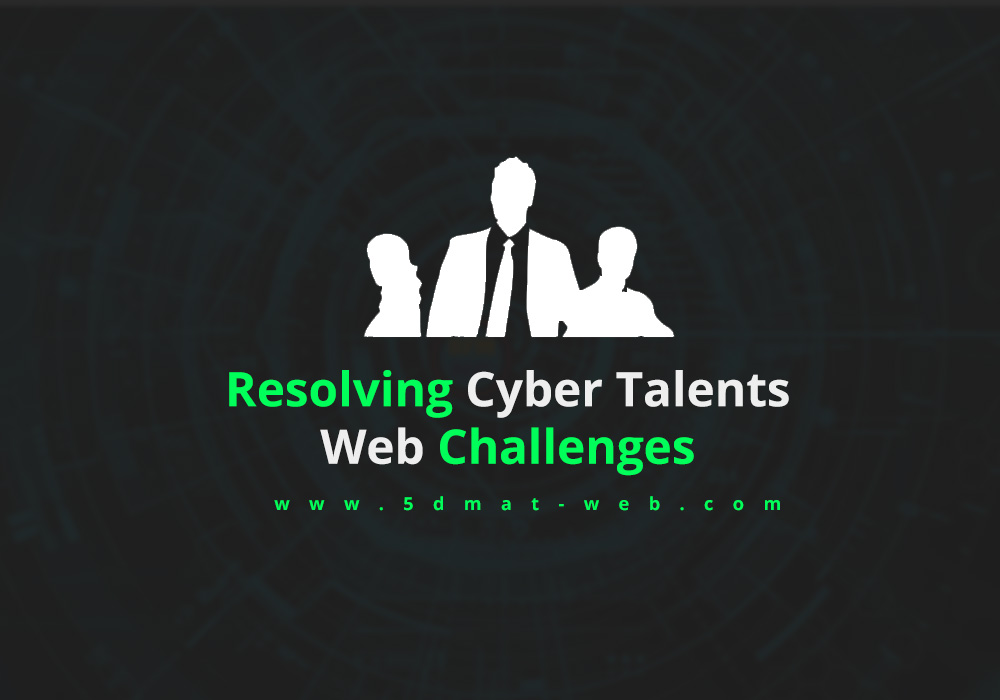 cyber talents web challenges