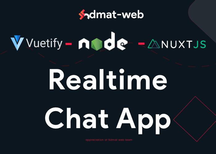 realtime chat app nodejs , nuxtjs