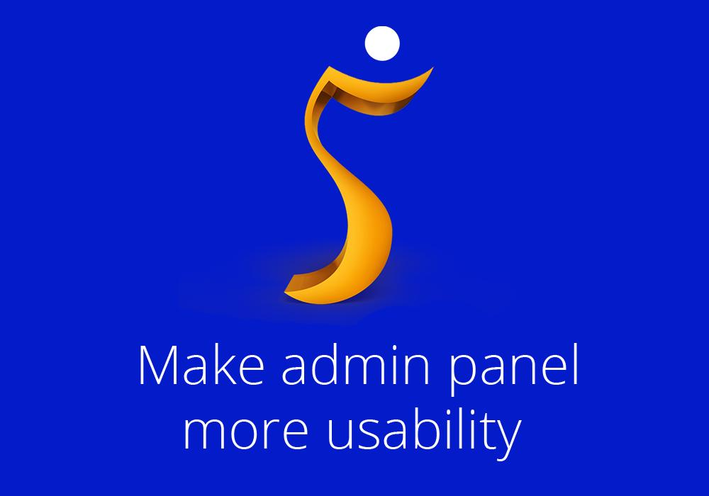 Make admin panel more usability