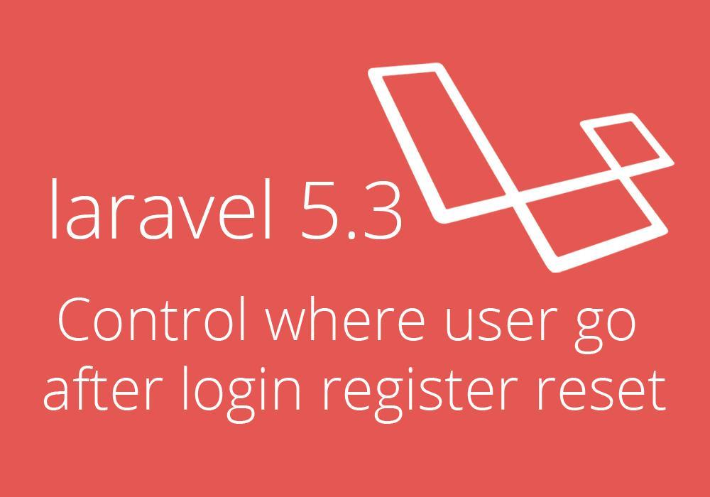التحكم في مسار اليوزر بعد تسجيل الدخول او التسجيل او استعادة كلمة المرور